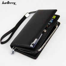 2017  Large Capacity Men Wallets Long Style Snap Button  MultiFunction Zipper Phone Bit Credit Card Holder Purse Wallet In Stock