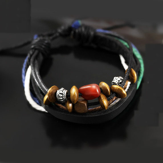 2017 Real New Strand Bracelets Casual/sporty None Box Chain Plant Braided Bracelets & Bangle Wide Cuff Jewelry Christmas Gift