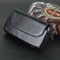 Zipper Man Belt Clip 100 Genuine Cow Leather Mobile Phone Belt Clip Case For ZTE Hawkeye
