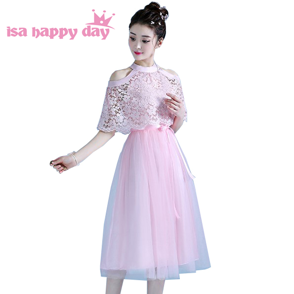 Country New Arrival Ladies Embellished Cap Sleeved Halter Light Pink