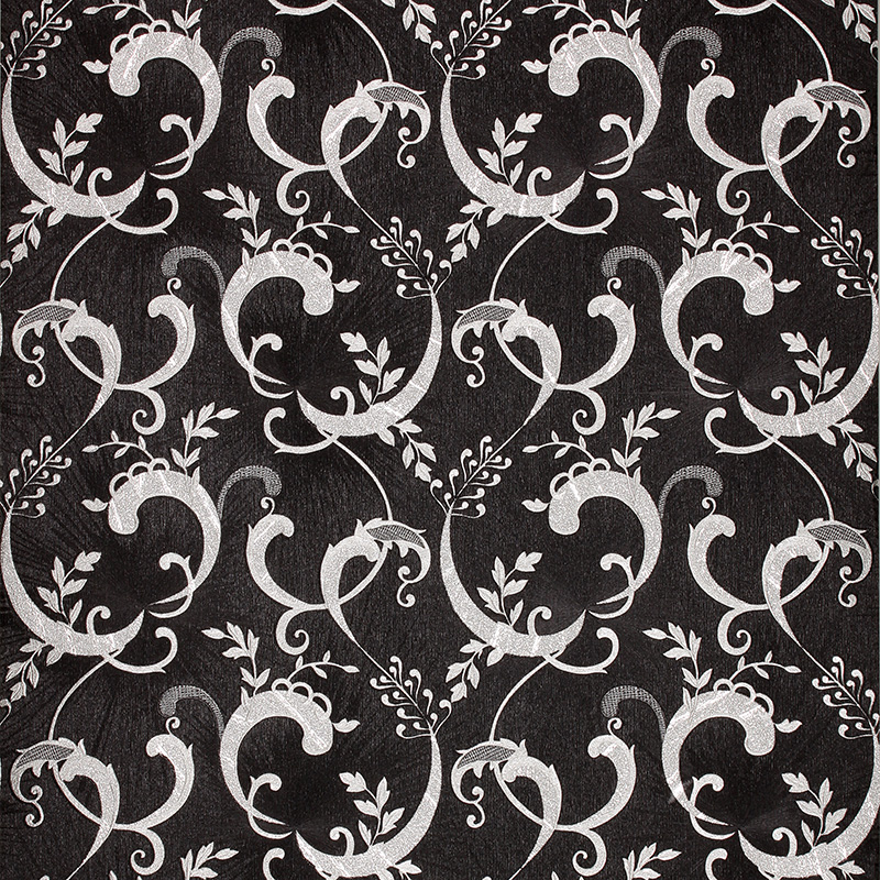 European Luxury Black Wallpaper Pvc Waterproof Gold Foil