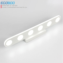 EGOBOO Modern 9/1215/18W LED Bathroom Lighting Fixtures Acylic Mirror Wall Sconces 110-240V AC
