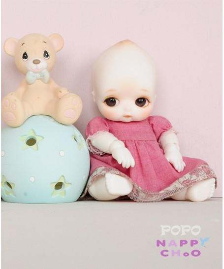 1/8 scale BJD about 10cm pop BJD/SD cute kid NAPPY popo choo Resin figure doll DIY Model Toy gift.Not included Clothes,shoes,wig