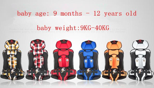 Tamanho grande Assento de Carro Infantil 40 kg para Venda Barato, Assento de Carro para Crianças, Kids Infantil Do Bebê da Criança assento no Carro, Vermelho, Azul, Amarelo, Branco