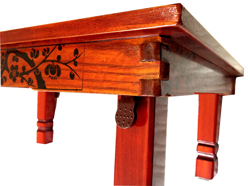 Rectangle 80x60cm Korean Dining Table Folding Legs Room Furniture Asain Traditional Style Foldable Wood Carved Ding In Tables From
