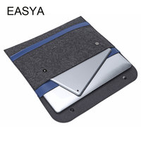 EASYA New Notebook Liner Leather Sleeve Bag Case For Apple Macbook Air Pro Retina 12 13