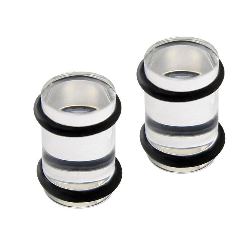 UV Transparent Acrylic crylic Straight Ear Plugs Flesh Tunnels ...