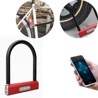Smart Bluetooth Keyless U type Lock Waterproof APP Button Anti-Theft Password Door Luggage Padlock