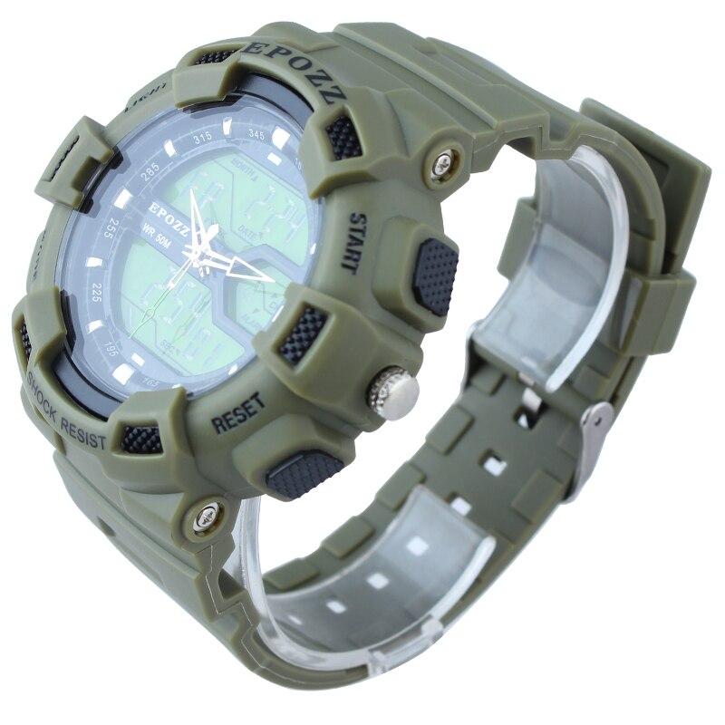 epozz г стиль спорт мужские цифровые часы мужские наручные часы аналоговые часы моды случайные водонепроницаемый 5bar круглый циферблат каучуковый ремешок 1605