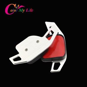 Image 5 - Kleur Mijn Leven Auto Stuurwiel Dsg Paddle Uitbreiding Shifter Shift Sticker Voor Seat Alhambra /Ateca /Leon Fr/Leon /Leon 4 5F
