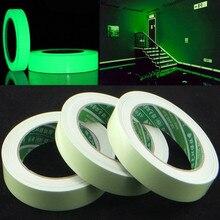 Новинка 3 м зеленая светящаяся лента самоклеящаяся светится в темноте безопасная сцениПредупреждение льная лента самоклеящаяся