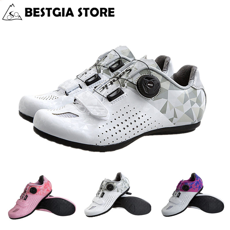 635f31012a1 Santic 2018 New All Terrain Non-locking Cycling Shoes Women Breathable Mountain  Bike Shoe Leisure Road Bicycle Flat Shoes 36-39