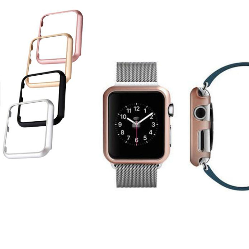 Aluminum Alloy Frame Metal Shell Protective Case For iwatch Apple Watch Series 1/2/3 38mm 42mm Screen Protector Cover Protection
