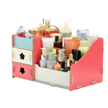 Wooden Office Storage Box Jewelry Container Makeup Organizer (9 colors)