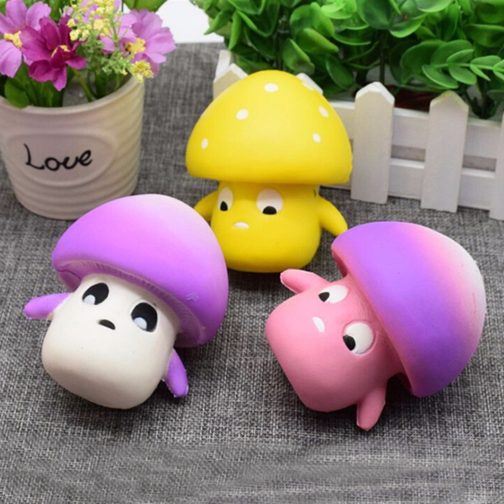 Cute New Mini Mushroom Squishy Soft Slow Rising Cream Scented Decompression Squeeze Toys Anti-stress Toy For Children Adult