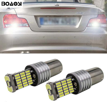 BOAOSI 2x High Power 1156 P21W LED Rear Reversing Tail Light Bulb For BMW 3/5 SERIES E30 E36 E46 E34 X3 X5 E53 E70 Z3 Z4 image