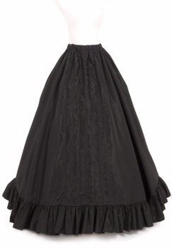 Victorian Bustle Skirt Victorian French Pleated Gathered Bustle Skirts