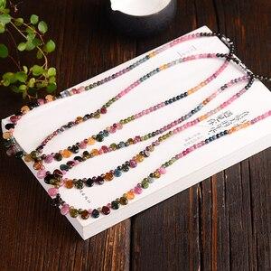Image 4 - Оптовая продажа, ожерелье jourssnow из натурального турмалина с подвеской в виде капли дождя, ожерелье принцессы для женщин, подарок на день рождения, ювелирные изделия