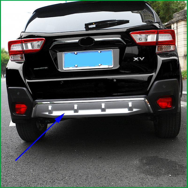 For Subaru XV GT3 GT7 2017 2018 2019 Rear Bumper Skid Plate Fender Protective plate Guard Cover Trim Car styling Auto Parts