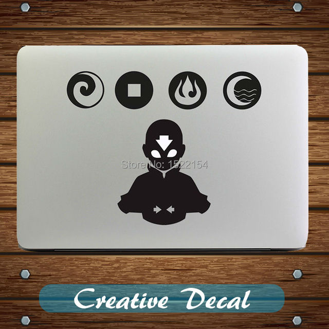 The last airbender avatar notebook decal sticker for macbook pro 13 air 11 retina lenovo mac