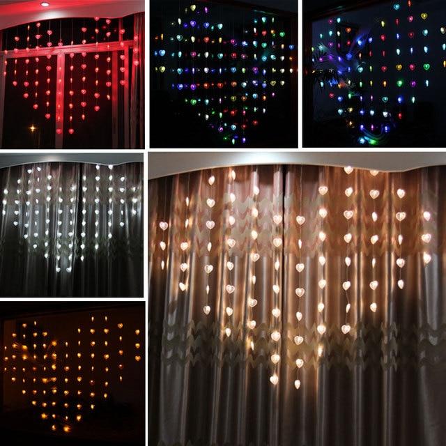 High Quality 1.5M Love Heart Shape LED String Lights Valentine Day Strip Lamp Room  Curtain Decoration EU