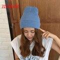 Новая Мода женские Шапки Теплые Шерстяные Зимние Шапки Женский Трикотаж Hat Cap Для Женщин Девушки Skullies Шапочки Повседневная Шапочка Для женщины