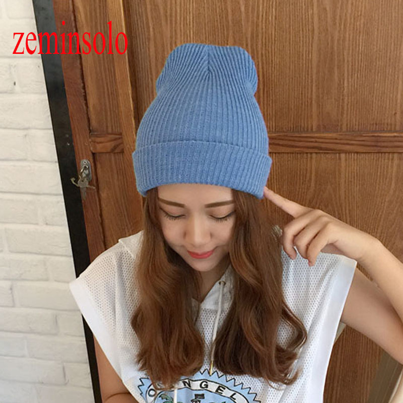 New Fashion Women's Hats Warm Woolen Winter Hats Female Knitted Hat Cap For Women Girls   Skullies     Beanies   Casual   Beanie   For Women