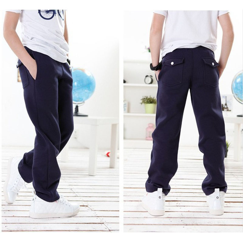 Special price 5-9T Boy Sweatpants Casual pants winter Cotton Navy - Children's Clothing