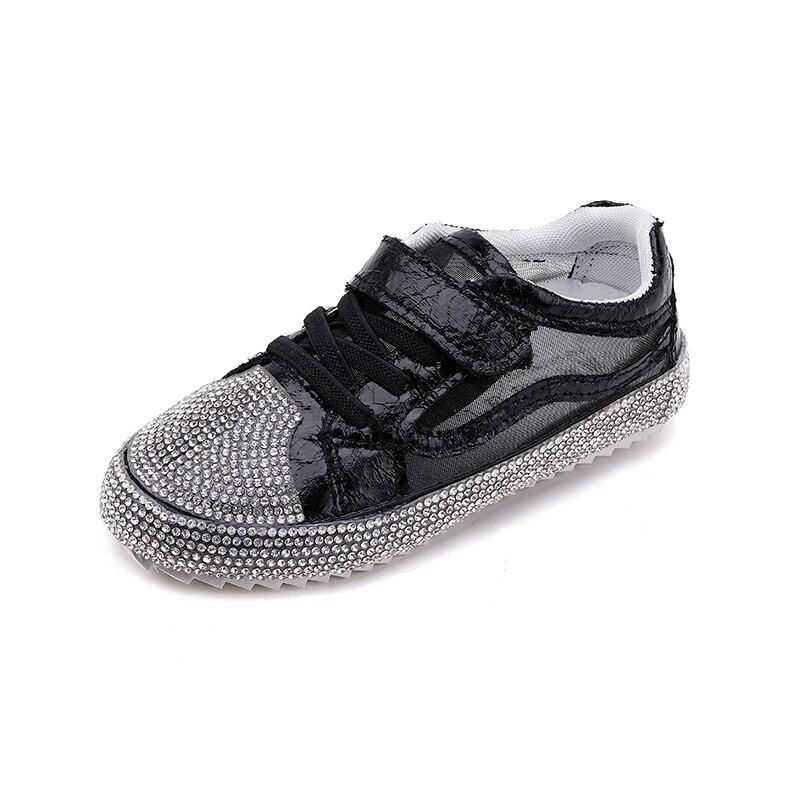 ULKNN Casual Children Shoes For Kids Sneakers Girls Footwear Boys Shoes Fashion Glitter PU Mesh Breathable School Trainer 2018