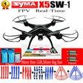 100% original syma x5sw wifi rc drones fpv quadcopter com câmera Sem Cabeça 2.4G 6-Axis RC Tempo Real Quad helicóptero toys