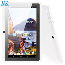 Sale 7″Tablet PC Google HD 1024*600  Android 4.4 Quad Core 16GB Bluetooth Wi-Fi Dual Camera White Regalo de Tablet PC