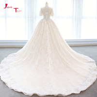 Jark Tozr 2018 Princess Ball Gown Wedding Dresses Plus Size Vestido De Casamento Appliques Bridal Dress Beading Robe de Mariage