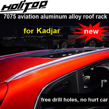 Newest roof rack roof rail roof bar for Renault Kadjar 2016 2017 2018+, 2pcs/set, ISO9001 quality, HITOP-5 years SUV experiences