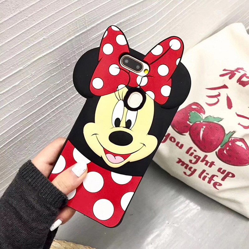 Cute Minnie <font><b>Girl</b></font> Cartoon <font><b>Case</b></font> for <font><b>Huawei</b></font> Y9 <font><b>Y7</b></font> Y6 Y5 <font><b>2019</b></font> 2018 Y6 Y3 2017 Prime Pro II Lite Silicone Cover image
