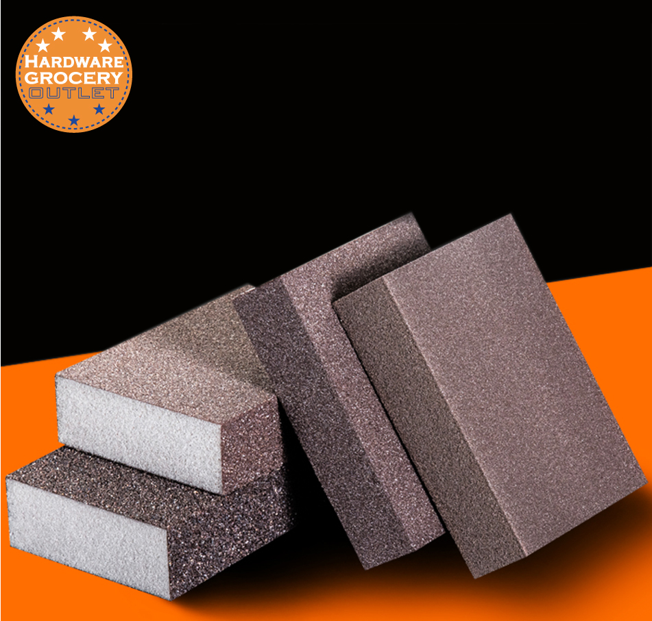 Sandpaper Sponge;Polishing Wood Plastic Model;Paint Rust Magic Eraser;Repeated Use Block Cleaning Brush; P80.