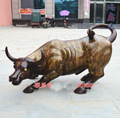95 CM LARGE # Office home Business stock-market Charging bull Mascot # efficacious Talisman Money Drawing bronze bull COW statue