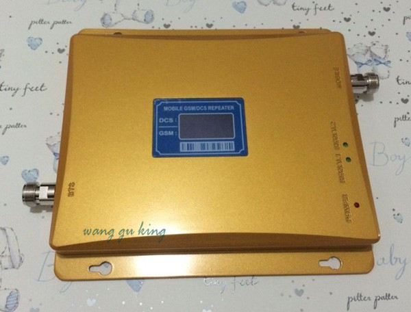 LCD Display !!! GSM 900Mhz DCS 4G 1800MHz Dual Band Signal Booster , GSM DCS Mobile Phone Signal Repeater + Power Adapter