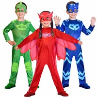 2018 NEW Jumpsuit Masks Catboy Owlette Gekko Costume Birthday Supplies Party Favors Kids PJ Superhero Halloween