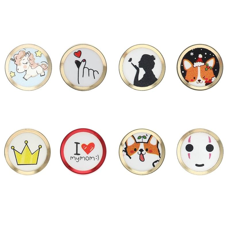 Cartoon cute Touch ID Home Button Sticker For iPhone 5 5S SE 6 6S 7 8 Plus For Ipad air 2 mini Fingerprint Identification Keypad