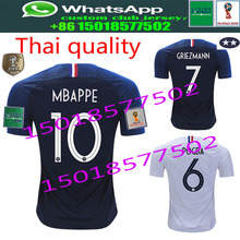 2018 new 2 stars Franceing World Cup Soccer Jerseys MBAPPE GRIEZMANN POGBA  Jersey 18 19 de foot football Shirts size S-2XL BY22 a1f47a267