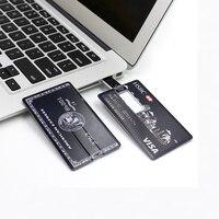 고속 신용 카드 USB 플래시 드라이브 32 그램 Pendrive 64 그램 USB 스틱 16 그램 8 그램 플래시 드라이브 메모리 스틱 HSBC