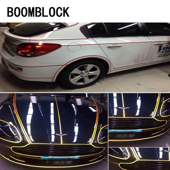 BOOMBLOCK Car 1cm*5m Reflective Tape Styling Rim Wheel Sticker For hyundai ix35 creta BMW e46 e39 e60 e90 e36 Renault Megane 2 image