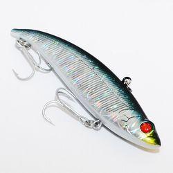 2016 hot!! Top grade VIB Fishing Lure Sinking Saltwater Sea Bass Lure Ice Winter Fishing Japan BKK Hooks Artificial Bait Wobbler