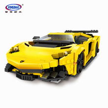 XingBao 03008 924Pcs Creative Technic Car Series The Yellow Flash Racing Car Set Building Blocks MOC Bricks Compatible Legoings цены
