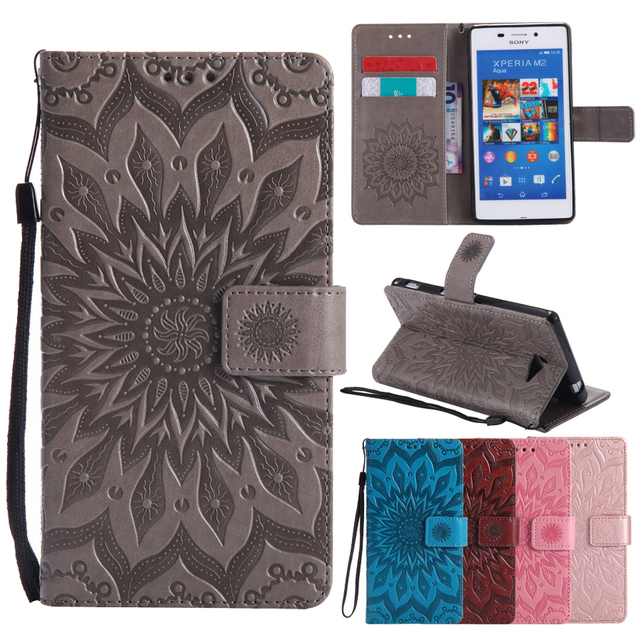 Flip Leather Case sFor Fundas Sony M2 case For coque Sony Xperia M2 S50h Dual D2302 D2305 D2303 Wallet Cover Stand Phone Cases