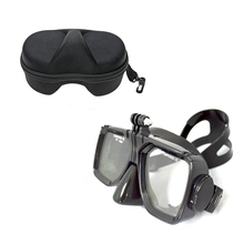 For Gopro waterproof Accessories Underwater Glass Diving Mask for Go Pro Hero camera hero7/ 6/5/4/SJ4000 /xiao mi 4k/Session