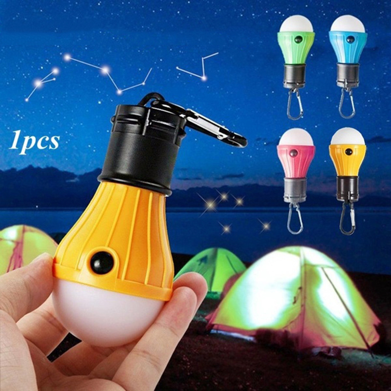 LED Flashlight Lantern Tent Light Bulb Hook For Outdoor Camping Hiking Fishing Emergency Lights Battery Powered Portable Lamp