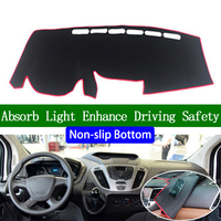 For Ford Transit 2017 Non slip Bottom Dashboard Cover Car Decals Car Stickers Interior Car Accessories