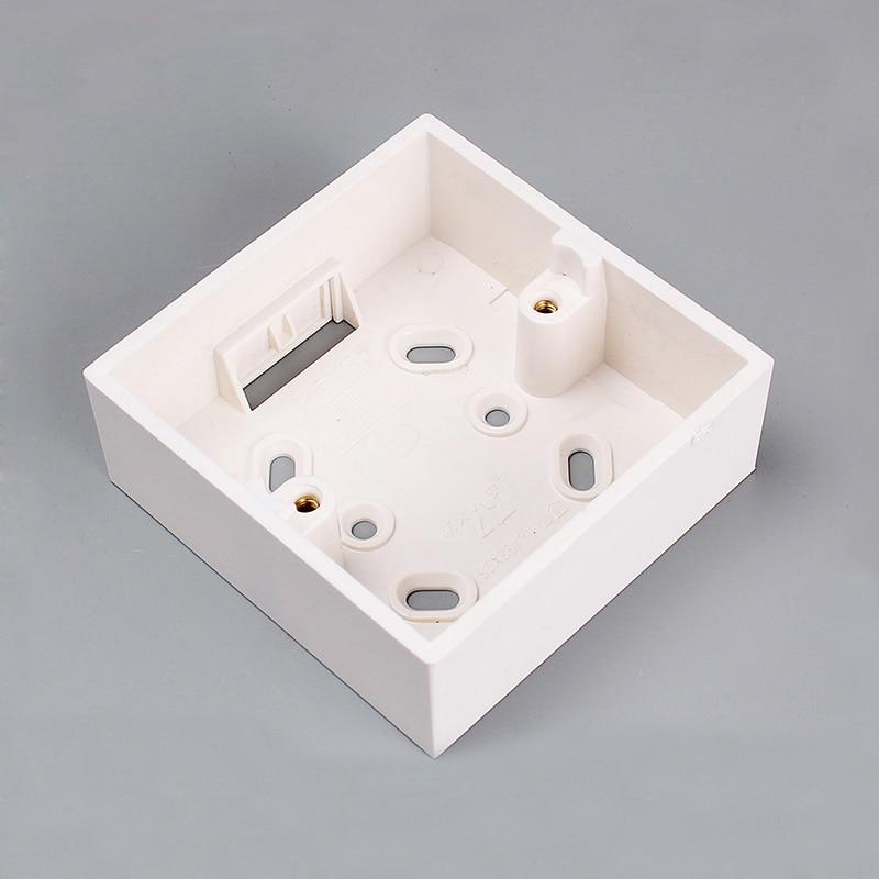 4090f556118 Wall Surface Mounted Bottom Box 86 Type Socket Switch Bottom Junction Base  PVC Wall Mount Switch