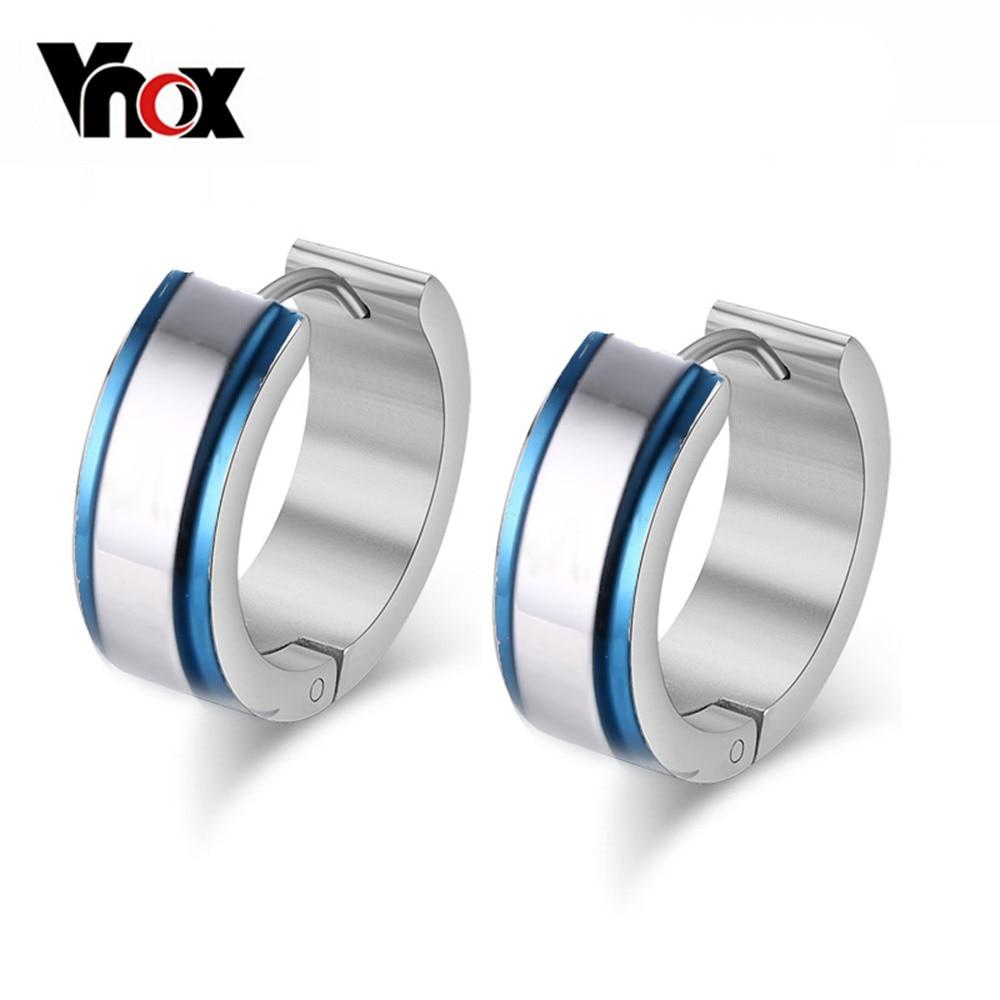 ჱvnox Small Stainless Steel Hoop Earring Stainless Steel Earings